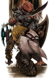 The Dragonborn, a 4th Edition player race.