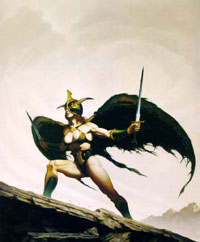 The gladiator Neeva, by Brom.