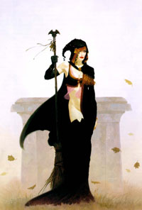 A sorcereress of Athas, by Brom.