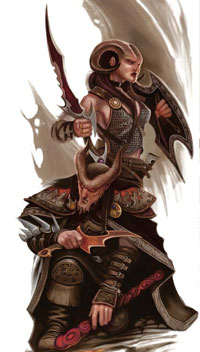 A pair of tieflings, a new race in 4th Edition - and possible spawn of the Pristine Tower.
