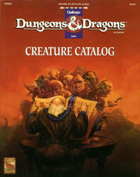 Dungeons & Dragons Creature Catalog (1993)