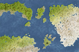 The latest iteration of our map, finally with some water you might be willing to drink.